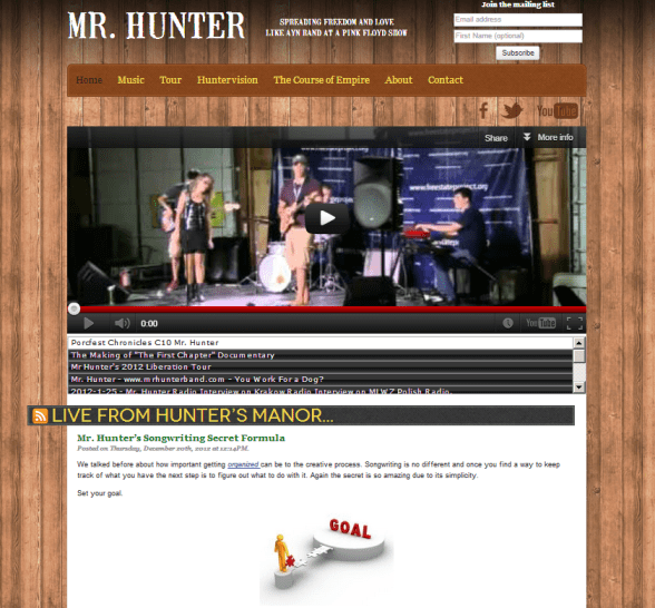Mr Hunter blog
