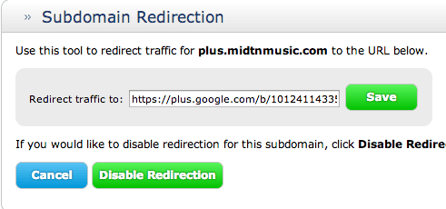 Paste your Google Plus URL and click save. You are finished.