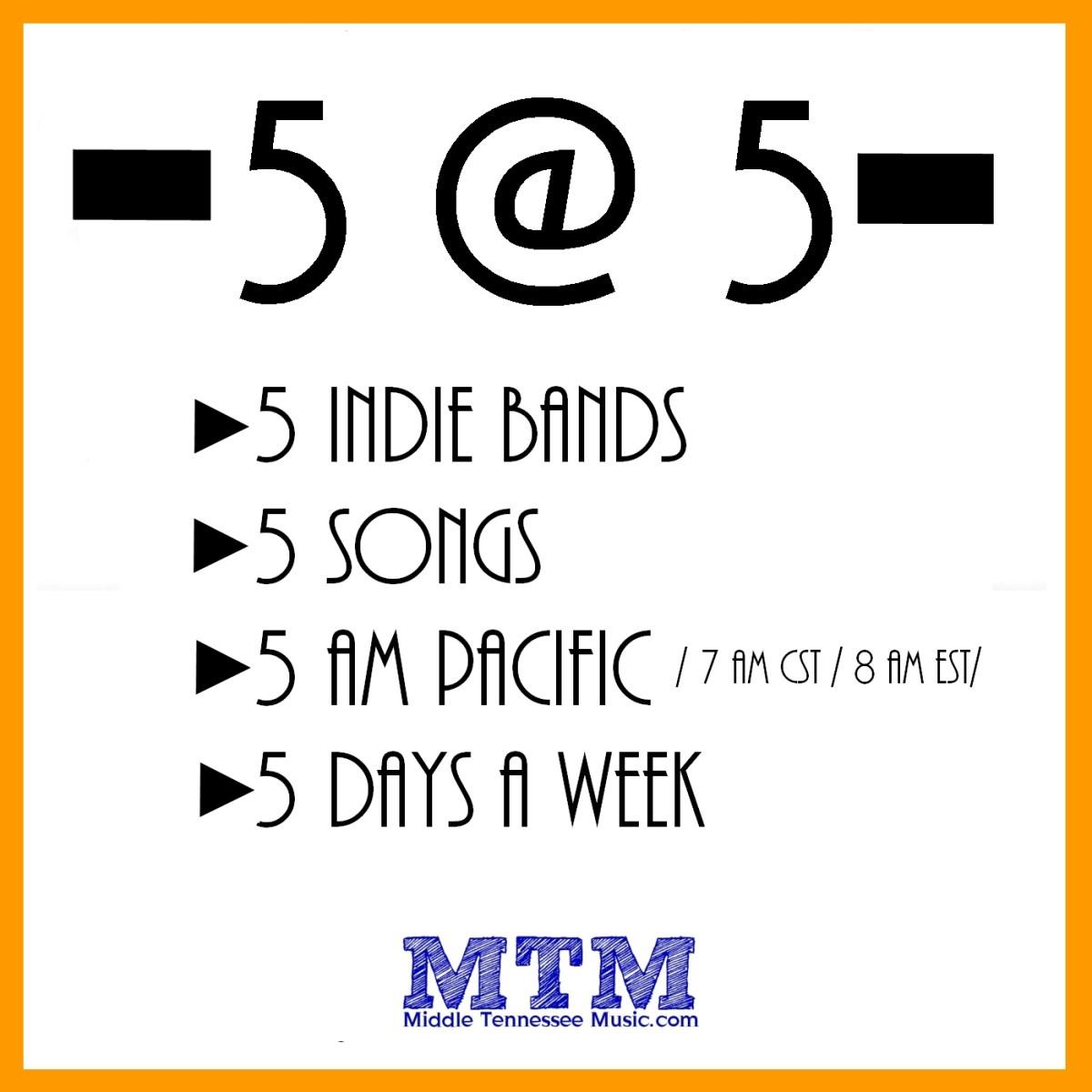 Mid Tenn Listens 5@5 featuring Jep Roadie, Embleton, Roy