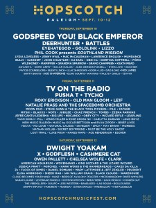 HOPSCOTCH MUSIC SCHEDULE RELEASED: 140 BANDS IN 3 DAYS WITH TV ON THE RADIO, DWIGHT YOAKAM, GODSPEED YOU! BLACK EMPEROR, PUSHA T, AND MORE!