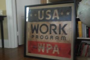 The framed sign