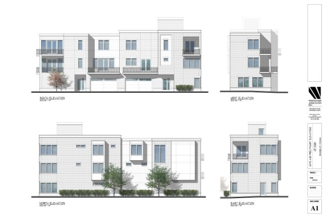 Preliminary Elevations, Uptown Units A&B