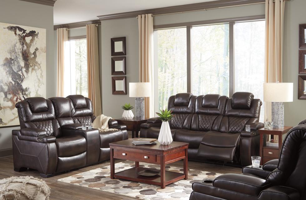 sofa power recliner raymour and flanigan natuzzi sofas ashley signature warnerton 754 with adj headrest