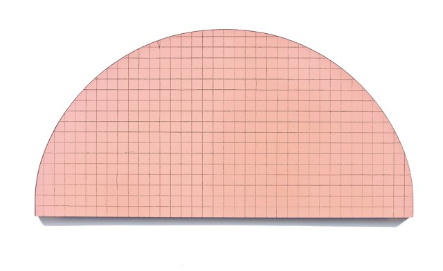 """The Sun Gives Birth to the Grid (1"""" Screen), 2010. Incision on found object. 17 ½ x 36 inches."""
