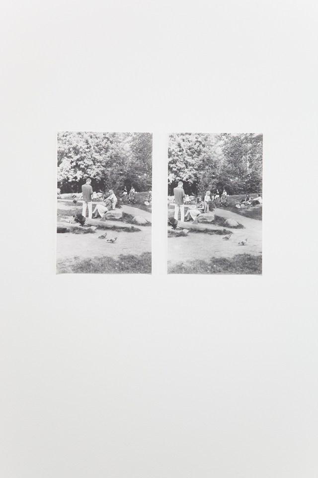 Untitled (Cro-Magnon), 2005. 2 b&w photographs, silver gelatin prints. 19 x 13 inches each.