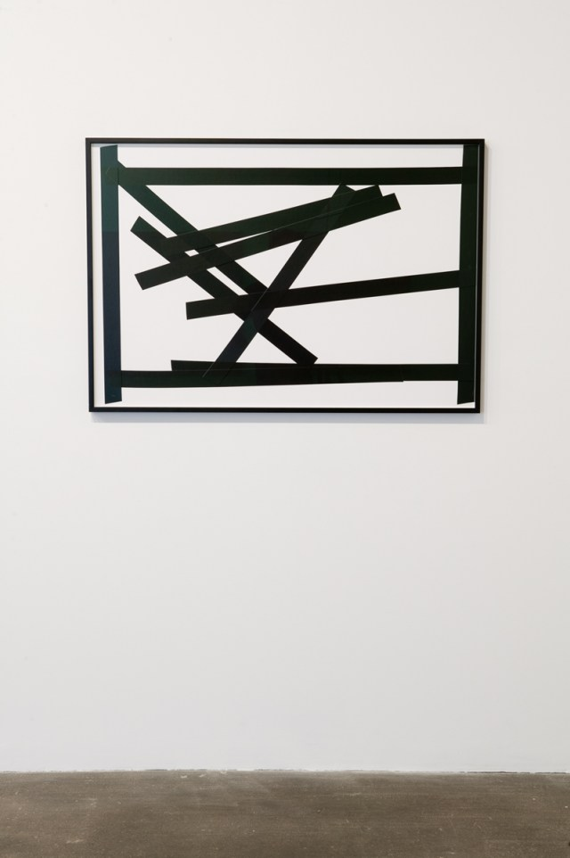 Tape Composition #4, 2007. Isolation tape on paper. 33 ¼ inches x 44 inches.