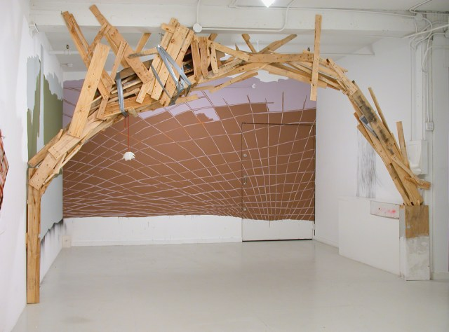 Alicia McCarthy, At Large or Small, 2003. Installation view.