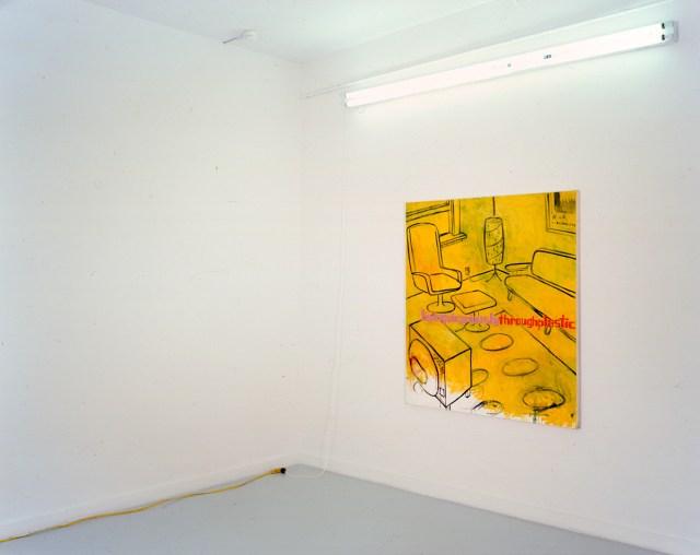 David Kramer, Through Plastic, 2001. Oil on canvas.