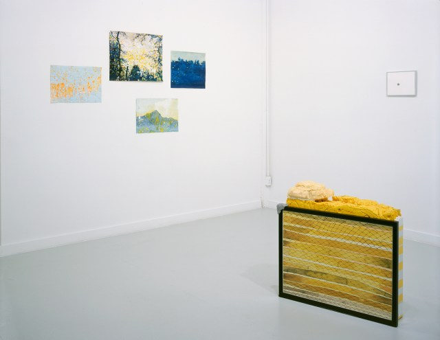 Drawn from LA (home is where the heart is), installation view. Left to right: David Korty, courtesy of China Art Objects Galleries; Heidi Kidon, courtesy of Rosamund Felsen Gallery; Mungo Thomson, courtesy of Margo Leavin.