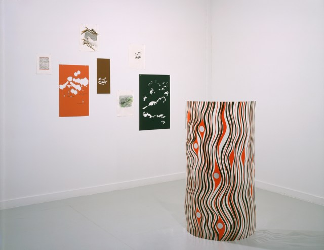 Drawn from LA (home is where the heart is), installation view. Alice Konitz. Mixed media, dimensions variable.