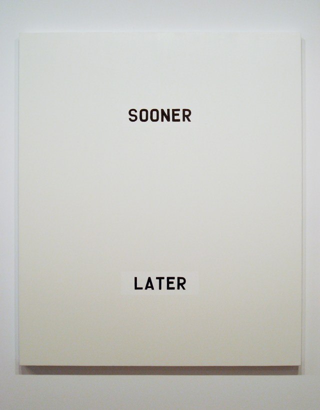 Sooner…Later, 2006. Oil on canvas. 78 x 66 inches