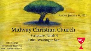 Sermon banner, January 31, 2021