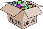 Box of canned goods clipart