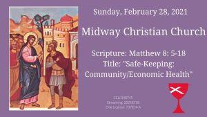 Sermon banner, February 28, 2021