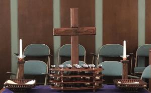 Midway Christian Church Lenten Communion Table