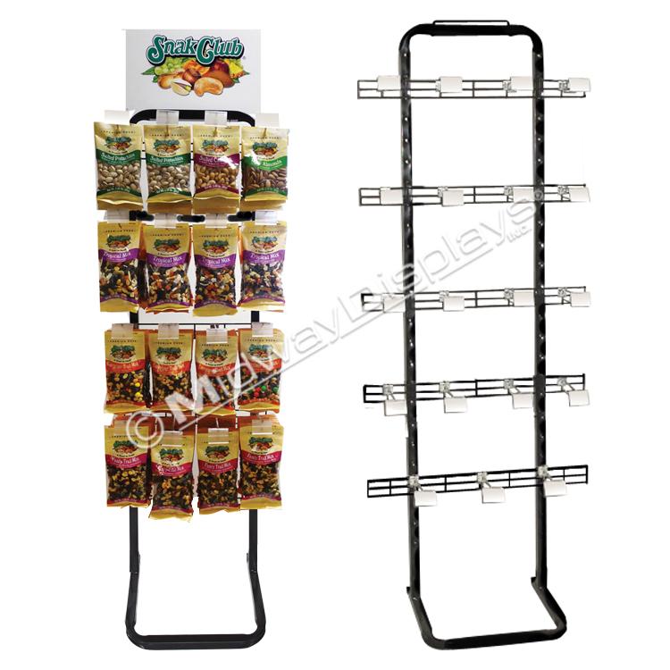 retail merchandising made easy knock down adjustable retail metal rack in stock displays a c storefavorite