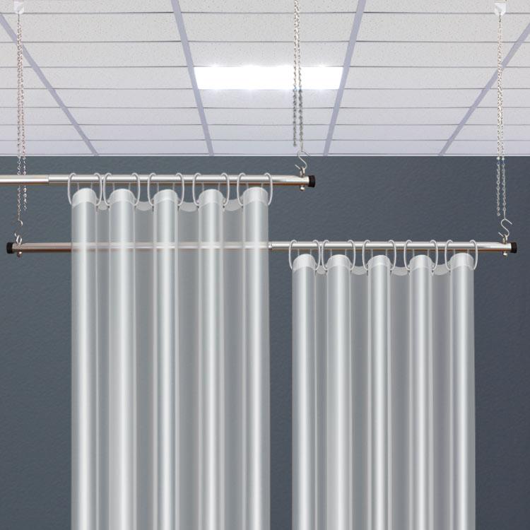 high end hygiene partitions mountable chrome finish poles