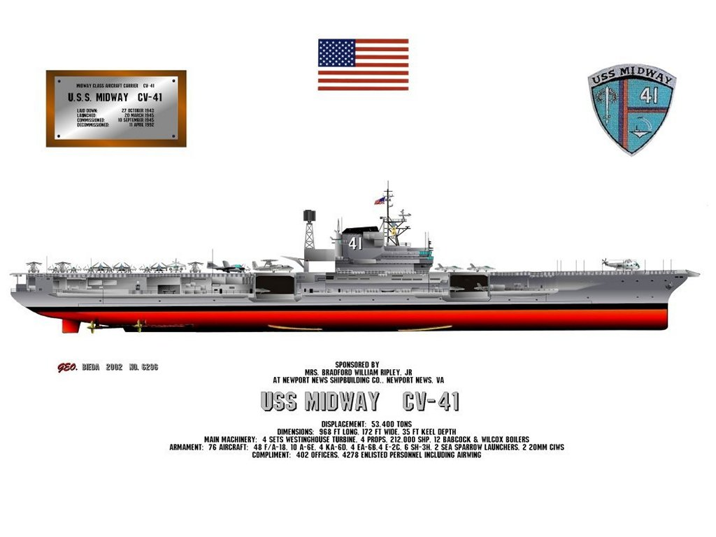 hight resolution of uss midway print