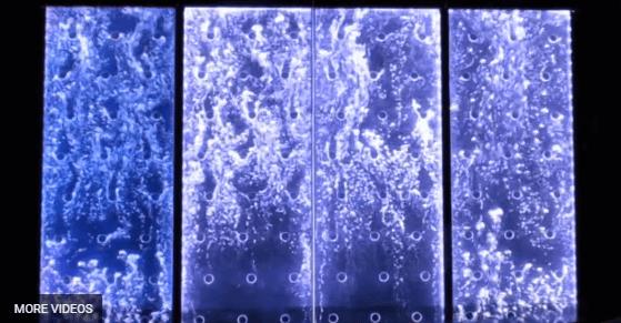 Custom Bubble Wall Dancing Bubble Waterfall