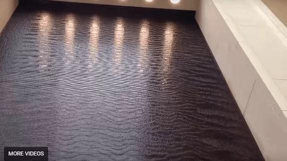 Large Water Wall Feature Custom Scored Acrylic Waterfall in Austin TX