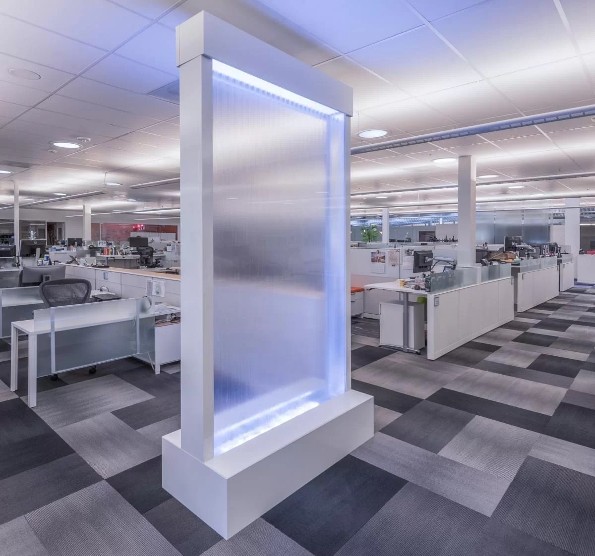 Enclosed Water Wall in Office California