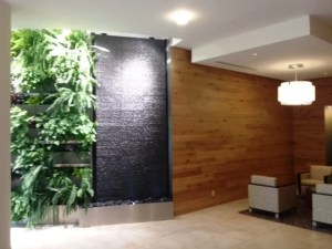 tile water walll corte madera city building stone tile waterfall