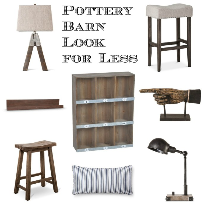 Pottery Barn Look for Less Collage