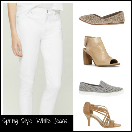 White Jeans and Shoes Collage 2