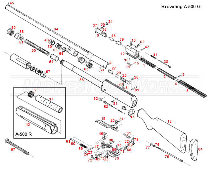 Browning A-500 Parts