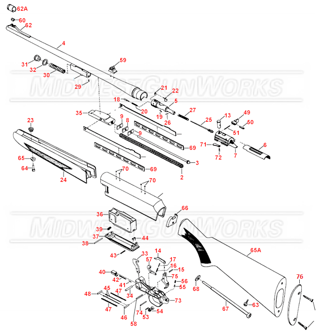 Browning BAR Rifle Parts