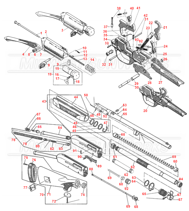 Benelli M1 Super 90 Parts