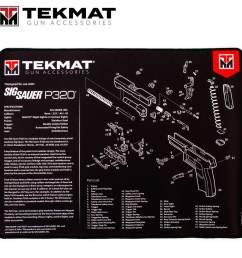 tekmat sig sauer p320 15 x20 premium gun cleaning mat black [ 1500 x 1500 Pixel ]