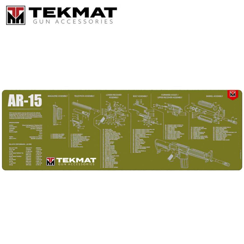 medium resolution of tekmat ar 15 12 x36 gun cleaning mat olive drab