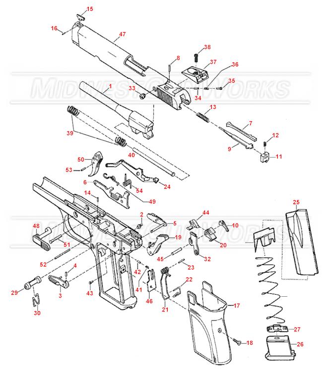Browning Buckmark Parts Diagram, Browning, Free Engine