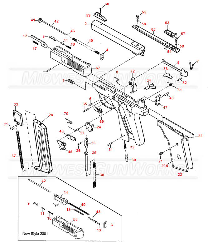 Browning Buckmark Parts Diagram, Browning, Free Engine