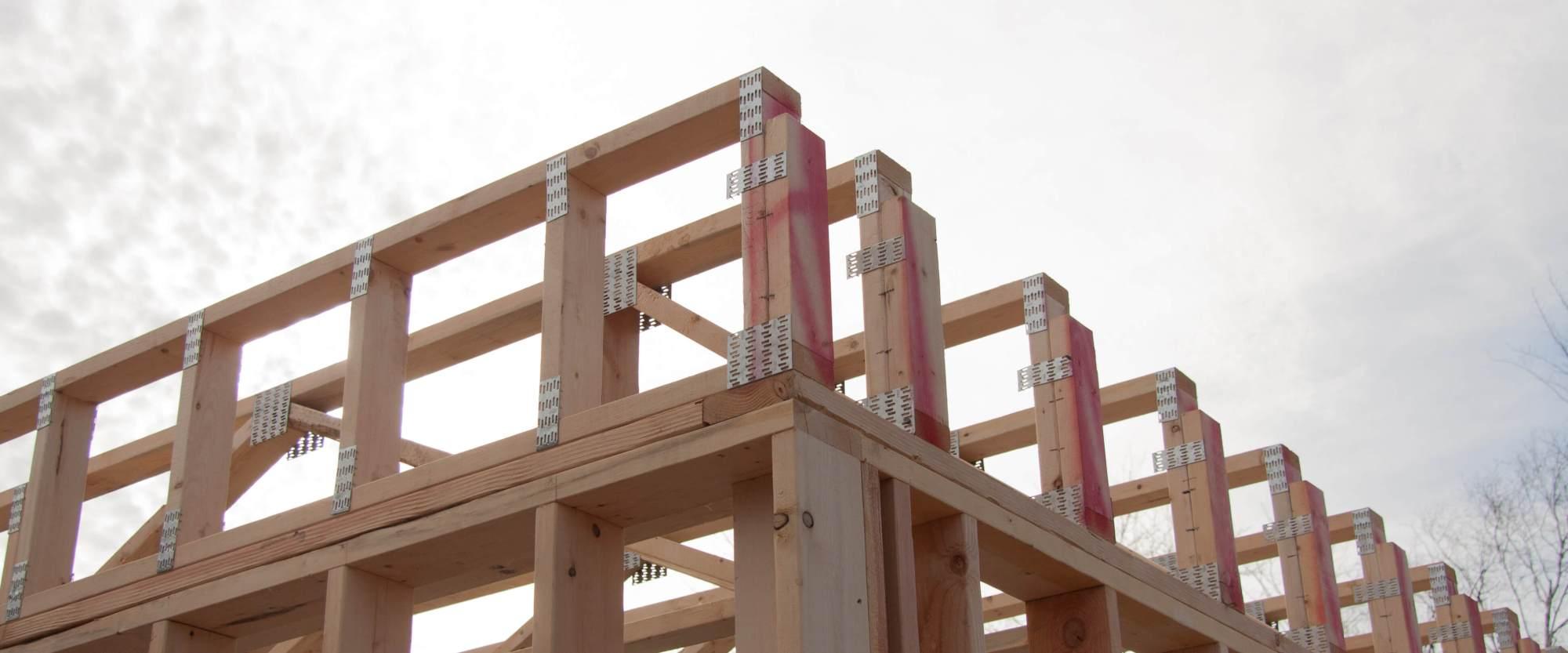 hight resolution of trusses floor scene