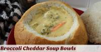 Broccoli Cheddar Cheese Soup in a Bread Bowl | Midwest ...