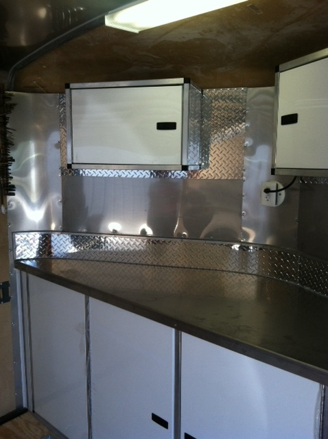 V Nose Trailer Cabinets Kits Midwest Race