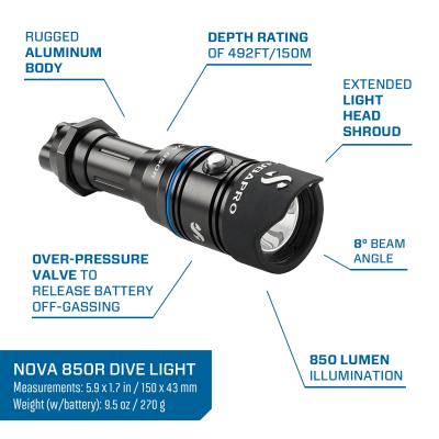 scubapro 850r dive light