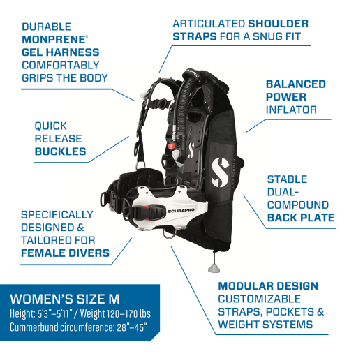 hydros pro women's bcd with power inflator