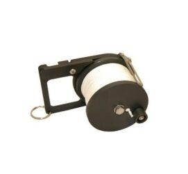 CUSTOM DIVERS 50 Meter Pocket Ratchet Reel, WHITE