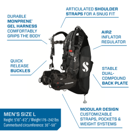 Scubapro Hydros Pro Men's BCD w/ Air 2