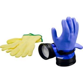 DUI Zip Gloves Heavy Duty Blue