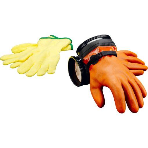 dui zip gloves dexterity orange