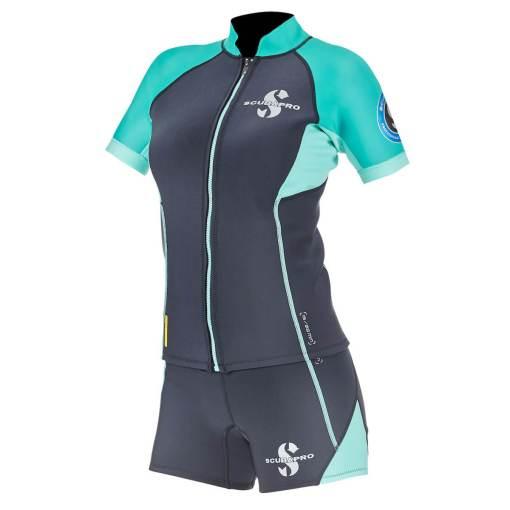 Scubapro everflex 1.5 short sleeve top and shorts women