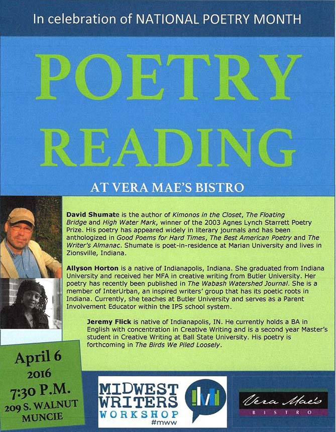 Poetry reading April 6