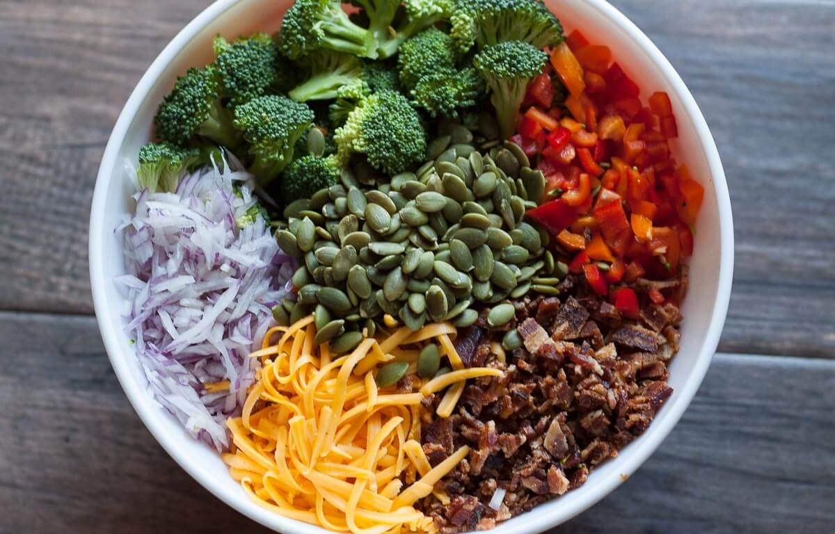 Your (grand)ma's broccoli salad gets a bold flavor upgrade.