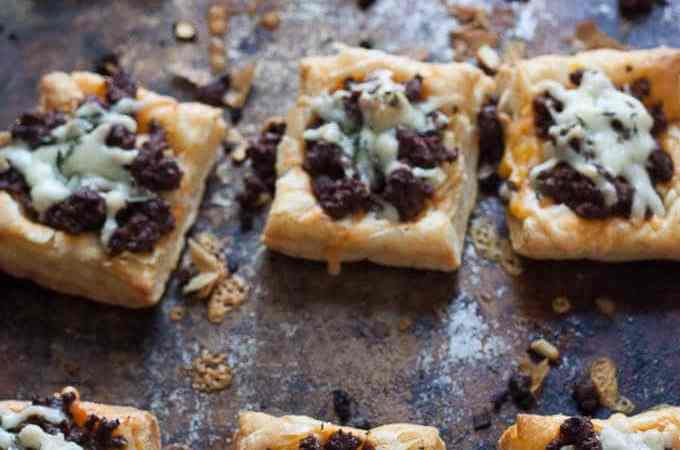 Cheesy Chorizo Apple Thyme Tarts