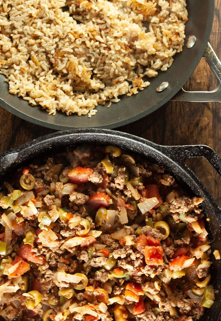 Quick Sauteed Beef and Rice
