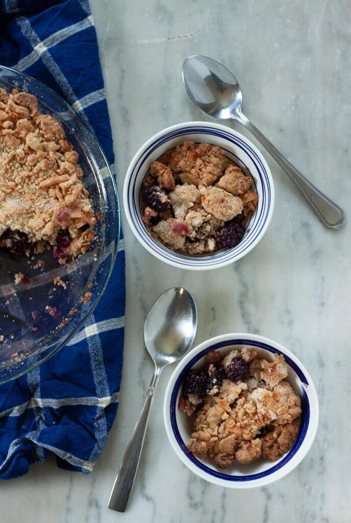 Blackberry Coconut Cobbler for Two